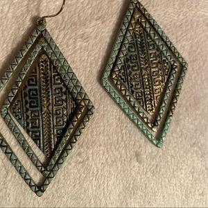 Dangly Aztec styled earring